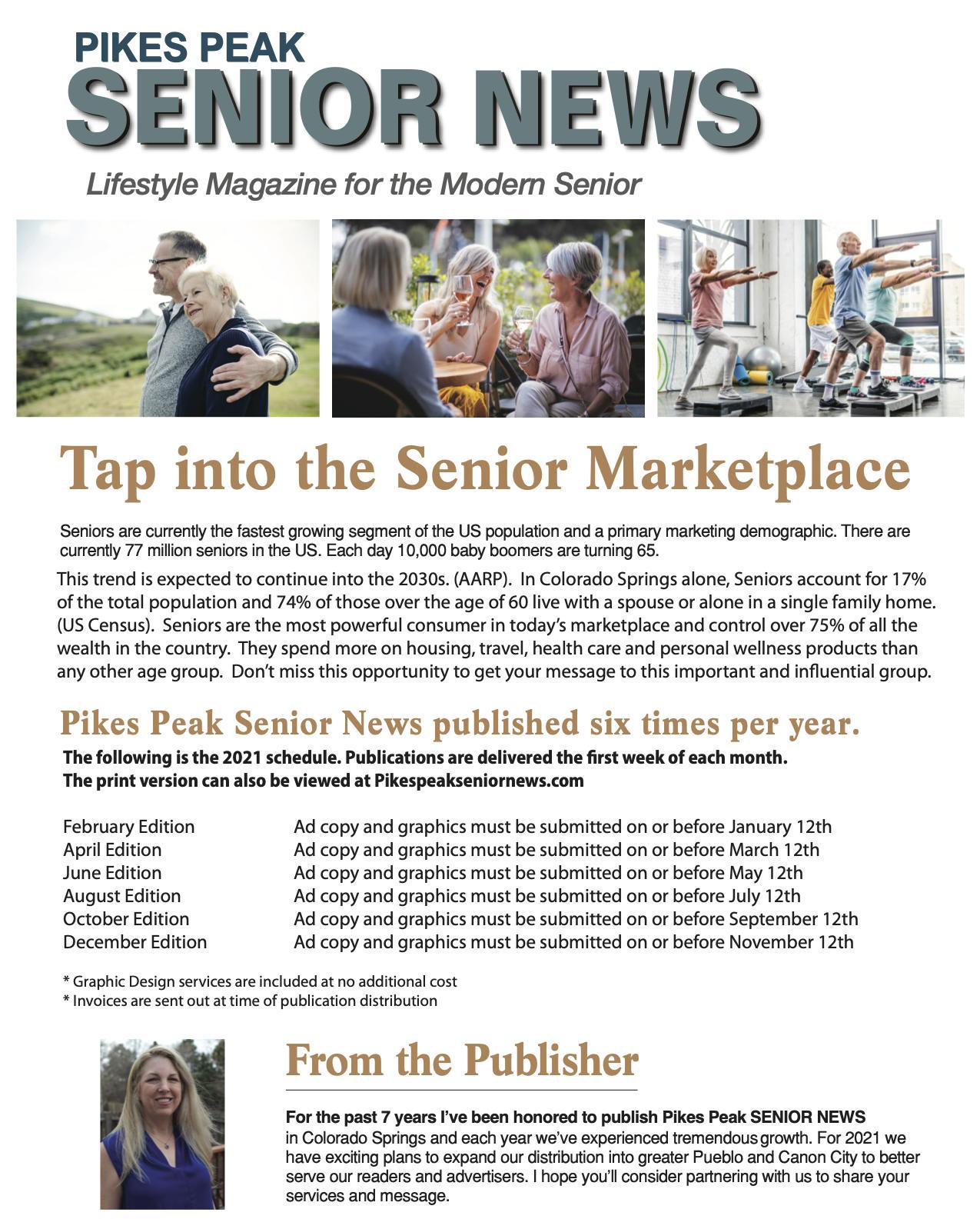 Pikes Peak Senior News Media Kit page 1
