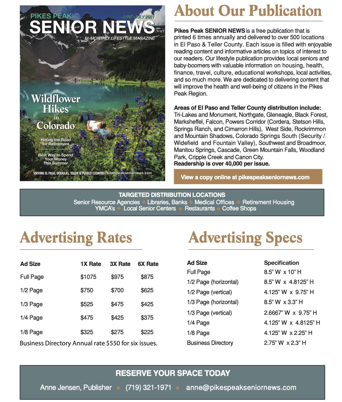 Pikes Peak Senior News Media Kit page 2